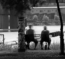 Men on the bench by Tommi Rautio