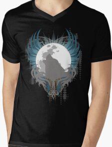 Howling Wolf Mens V-Neck T-Shirt