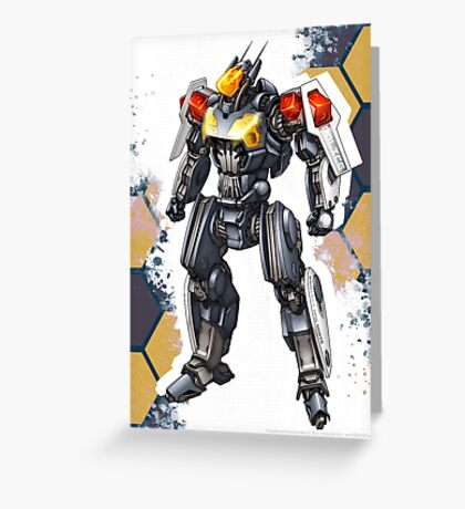 Police Robot 54 Greeting Card