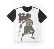 Salandria - Hand Drawn and Colored Graphic T-Shirt