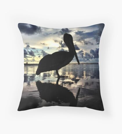Tranquil Bird of Dominical Throw Pillow
