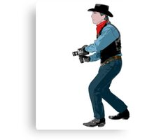 super 8 cowboy Canvas Print