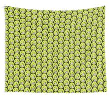 Tennis Ball Smiley face. Wall Tapestry
