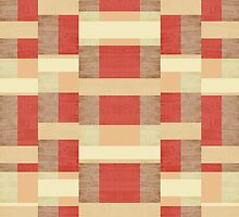 Abstract Red Stripes by perkinsdesigns