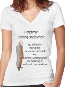 Henchman seeking employment Women's Fitted V-Neck T-Shirt
