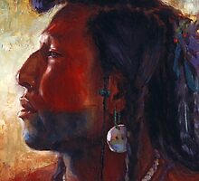 Soldier of his People, Mandan, Native American Art, James Ayers Studios by JamesAyers
