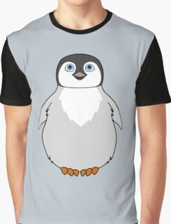 Natural Grey Baby Penguin Graphic T-Shirt