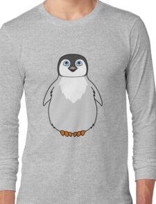 Natural Grey Baby Penguin Long Sleeve T-Shirt