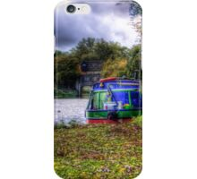 Narrow Boat moored on the river iPhone Case/Skin