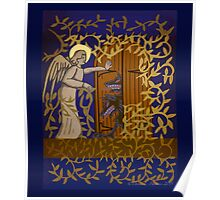Angel at the Door - Royal Blue Version Poster