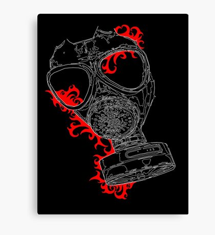 gas mask red Canvas Print