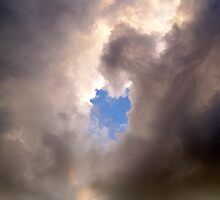 Cloud Formation..One Little Piece of Blue by vette