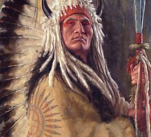 Black Rock Two Kettle Chief, Native American Art, James Ayers Studios by JamesAyers