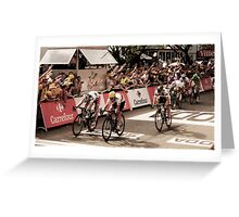 Andre Griepel and Mark Cavendish Greeting Card