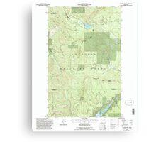 USGS Topo Map Washington State WA Aladdin Mtn 239769 1992 24000 Canvas Print