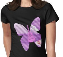 acoustic butterfly  Womens Fitted T-Shirt