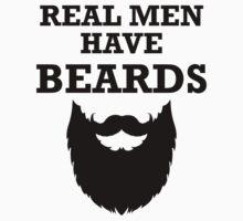 Real Men Have Beards Kids Tee