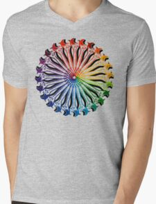 Wrench Color Wheel B Mens V-Neck T-Shirt