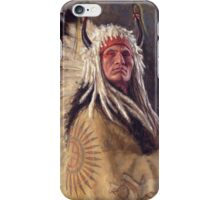 Black Rock Two Kettle Chief, Native American Art, James Ayers Studios iPhone Case/Skin