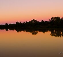 Sunset Longreach, Queensland by Julia Harwood