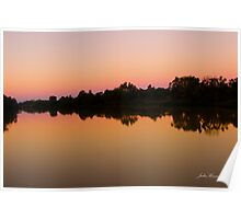 Sunset Longreach, Queensland Poster