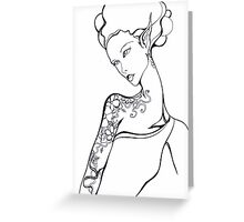 Tattooed Elf-Lady Number One Greeting Card