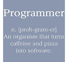 Programmer Photographic Print