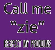 Zie/zir pronouns by dapperli