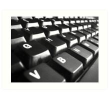Keyboard Art Print