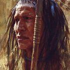 Resolute Strength, Blackfoot, Native American Art, James Ayers Studios by JamesAyers