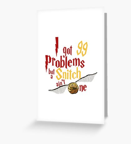 LION PROBLEMS Greeting Card