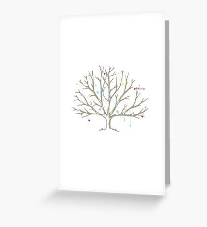 Tree Arrows Greeting Card
