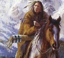 Warriors of the High Country, Ute, Native American paintings, James Ayers Studios by JamesAyers