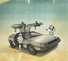 lost searching for the DeathStarr_ 2 stormtroooper in A DELOREAN by vinpez