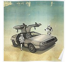 lost searching for the DeathStarr_ 2 stormtroooper in A DELOREAN Poster