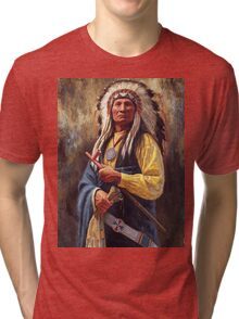 Red Cloud, Native American Art, James Ayers Studios Tri-blend T-Shirt