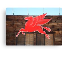 Route 66 - Mobil Pegasus Canvas Print
