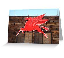 Route 66 - Mobil Pegasus Greeting Card