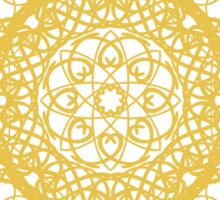 gold pattern mandala Sticker