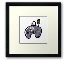 3-button Controller  Framed Print