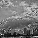 Chicago Afloat B/W by anorth7