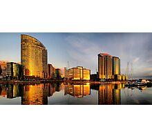Golden Docklands Photographic Print