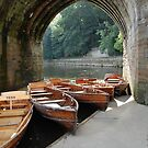 Boats at Elvet Bridge, Durham by Ross Sharp