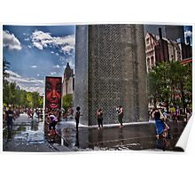 Crown Fountain Poster