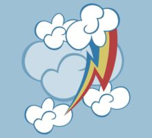 Rainbow Dash among the clouds Kids Clothes