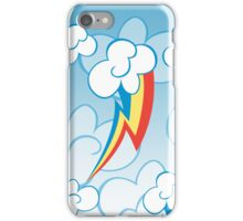 Rainbow Dash among the clouds iPhone Case/Skin