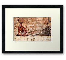 Along The Ganges Framed Print