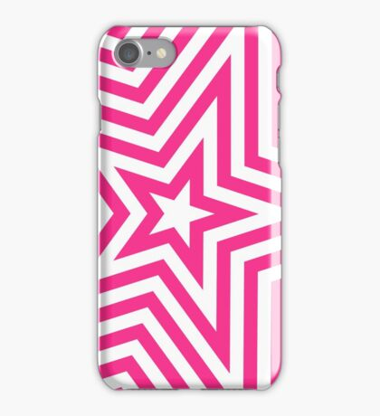 Pink and White Star Kaleidoscope Pattern  iPhone Case/Skin