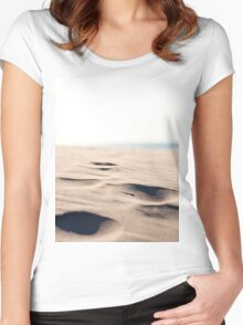 Footprints in the Sand Women's Fitted Scoop T-Shirt