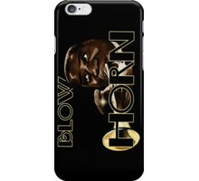Trumpet - Blow Horn with Bubbles iPhone Case/Skin